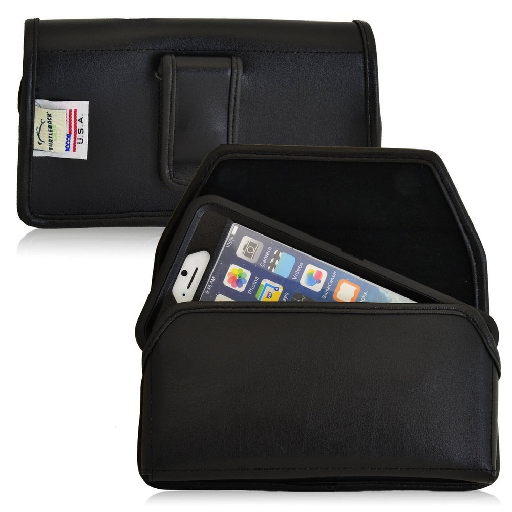 iPhone 6/6S Extended  Horizontal Leather Fixed Clip Holster