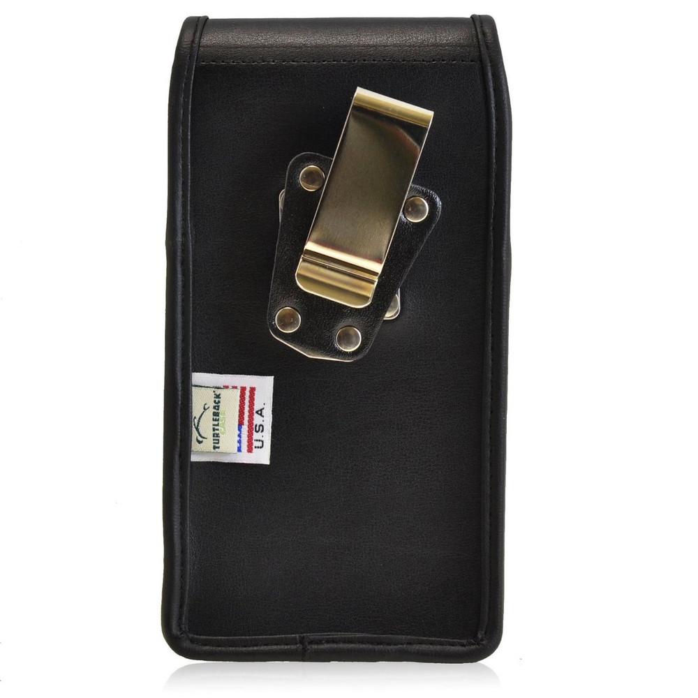 Kyocera Torque XT E6710 Vertical Leather Holster, Metal Belt Clip