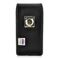Galaxy S9 Plus / S8 Plus Leather Vertical Holster Case Metal Belt Clip
