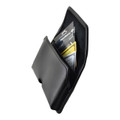 6.60 x 3.25 x 0.62 in - Smartphone Credit Card Pocket Case Holster Black Clip (iPh 6+, 7+, 8+, Galaxy S9+ S8+)
