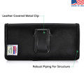 Samsung Note 8 Holster Black Belt Clip Case Pouch Leather Turtleback
