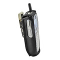 Motorola i365 Black Leather Phone Case with Removable Metal Belt Clip