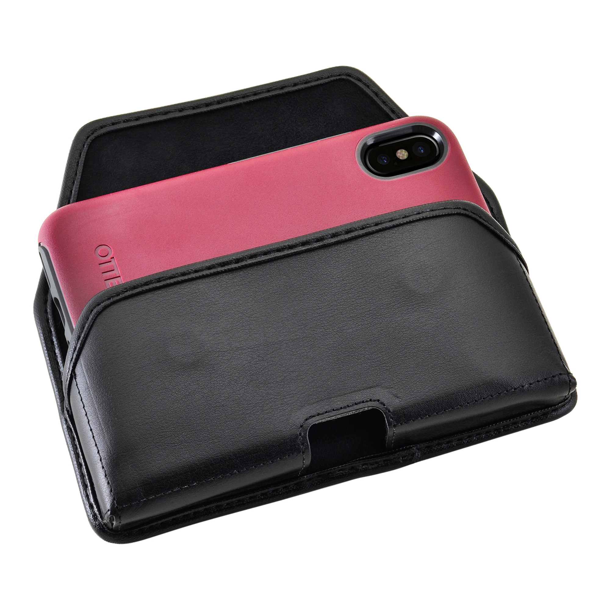 Iphone X Holster Fits Commuter Symmetry Case Leather Clip Otterbox For Black Belt Horizontal