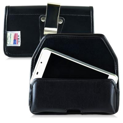 BLU Vivo Air Leather Holster Case Metal Belt Clip