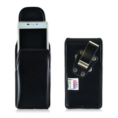 BLU Vivo Air Vertical Leather Holster Case Metal Clip