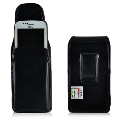 BLU Advance 4.0 Vertical Leather Holster Case Clip