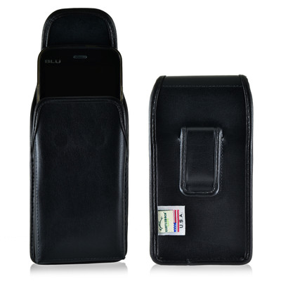 BLU Studio 5.0 II Vertical Leather Holster Case Belt Clip