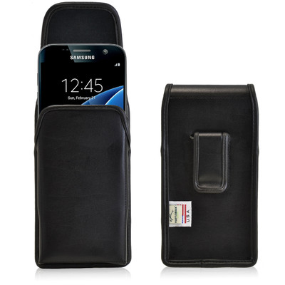 Galaxy S7 Vertical Leather Fixed Clip Holster