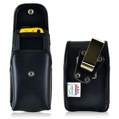 RugGear Swift Plus RG220 Leather Snap ClosureHolster, Metal Belt Clip