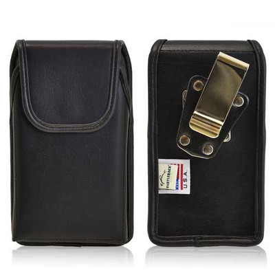 iPhone 5/5S/SE Extended Vertical Leather Rotating Clip Holster
