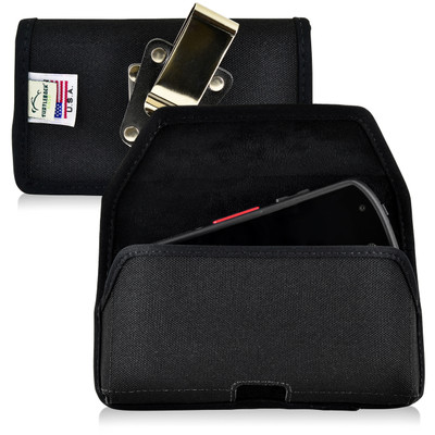 Kyocera DuraForce E6560 Holster Metal Belt Clip Case Pouch Nylon Horizontal
