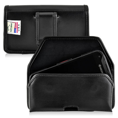 Kyocera DuraForce PRO Holster Black Belt Clip Case Pouch Leather