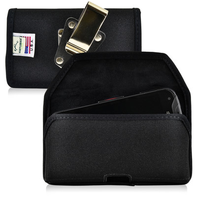 Kyocera DuraForce PRO Holster Metal Belt Clip Case Pouch Nylon Horizontal