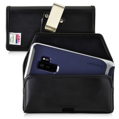 Galaxy S9 Plus / S8 Plus Leather Holster Case Metal Belt Clip