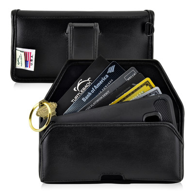 6.10 x 2.90 x 0.60 in - Smartphone Credit Card Pocket Case Holster Black Clip (Galaxy S8, S7, S7 Edge)