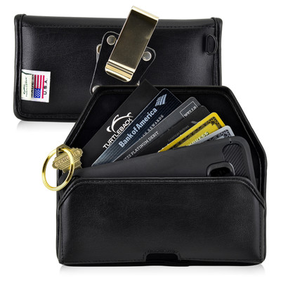 6.10 x 2.90 x 0.60 in - Smartphone Credit Card Pocket Case Holster Metal Clip (Galaxy S8, S7, S7 Edge)