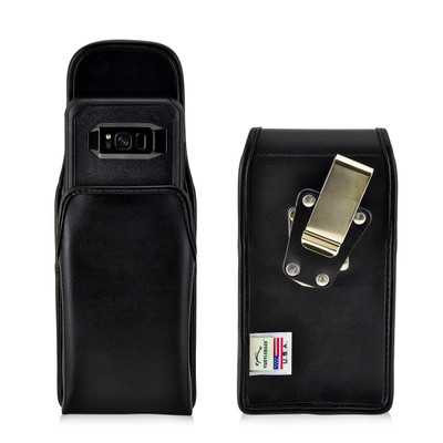 Galaxy S8 Leather Vertical Holster Metal Belt Clip Otterbox Commuter