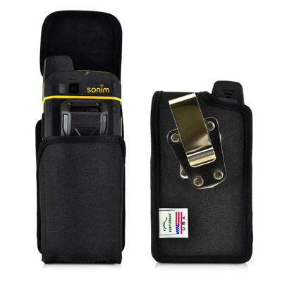Sonim XP7 Koamtac Scanner Black Nylon Holster Pouch Rotating Removable Metal Belt Clip By Turtleback