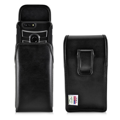 ZTE Blade Z Max Holster Black Clip Case Pouch Leather Vertical Turtleback