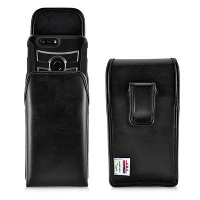 ZTE Blade Z Max Holster Black Clip Case Pouch Leather Vertical Turtleback