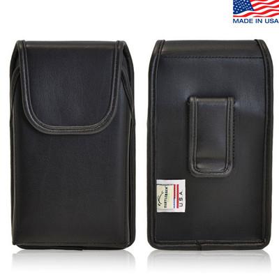 iPhone 5/5S/SE Extended Vertical Leather Black Belt Clip