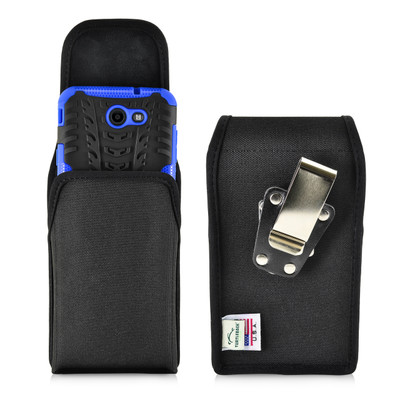 Galaxy J7 2017 Prime, Perx, Halo Holster, BULKY Vertical Black Nylon Belt Clip