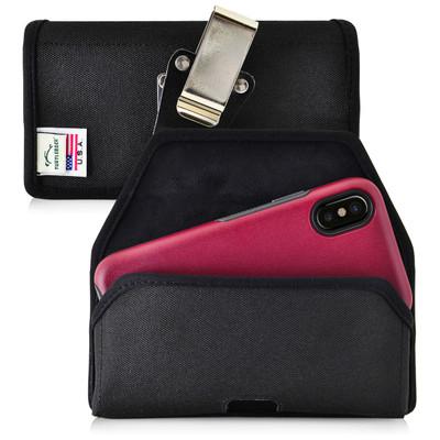 iPhone X Belt Clip Case fits OTTERBOX COMMUTER SYMMETRY Case Holster Black Nylon Rotating Belt Clip Horizontal