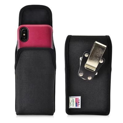 iPhone X Belt Clip Case fits OTTERBOX COMMUTER SYMMETRY Case Vertical Holster Black Nylon Rotating Belt Clip