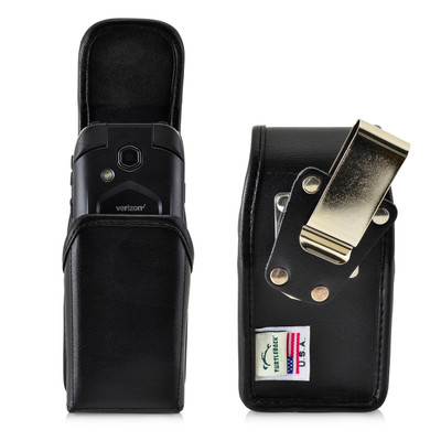 DuraXV LTE E4610 Verizon Leather Pouch Case Rotating Black Belt Clip Magnet