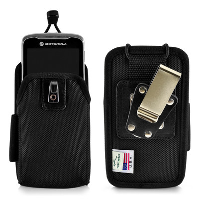 Zebra Motorola TC55 Touch Mobile Computer Nylon Scanner Holster, 2 Belt Clips (Metal Clip & Belt Loop) Holder