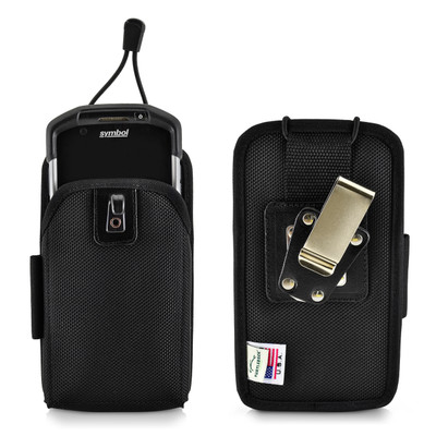 Zebra Motorola TC70 TC700H Touch Mobile Computer Nylon Scanner Holster, 2 Belt Clips (Metal Clip & Belt Loop)