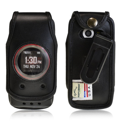 Casio GzOne Ravine 2 Black Leather Case with Ratcheting Belt Clip
