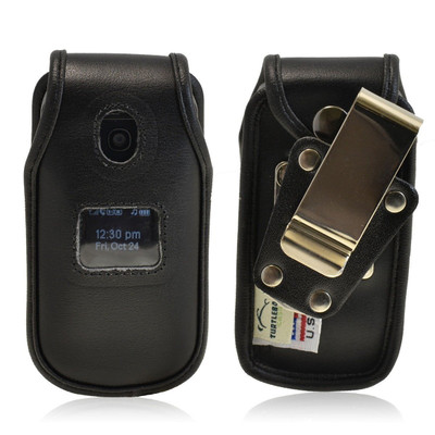 LG Envoy 2 II un160 Heavy Duty Black Leather Phone Case with Rotating Metal Belt Clip