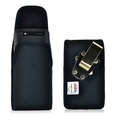 Blackberry Classic Q20 Vertical Nylon Holster, Metal Belt Clip