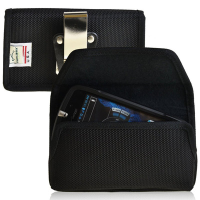 Casio GzOne Commando 4G LTE C811 Horizontal Nylon Holster, Metal Belt Clip