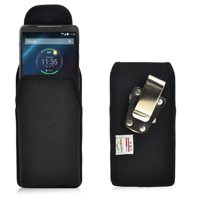 Motorola Droid Turbo Vertical Nylon Holster, Metal Belt Clip
