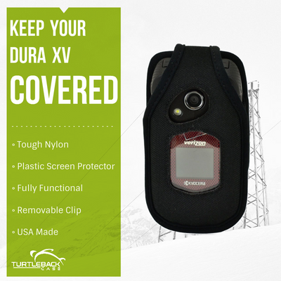 Kyocera DuraXV and DuraXA E4510 Heavy Duty Nylon Phone Case with Removable Metal Clip