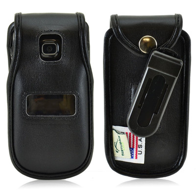 Alcatel Tracfone  A392G Leather Fitted Phone Case, Ratcheting Belt Clip
