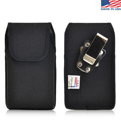 6.00 x 2.87 x 0.50in - Vertical Nylon Holster, Metal Belt Clip
