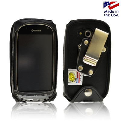 Kyocera Torque & Torque XT E6710 Leather Fitted Phone Case Metal Belt Clip