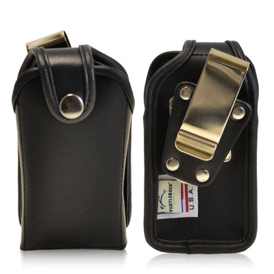 "Small Vertical PDA Heavy Duty Leather Pouch - Fits devices 4"" X 2"" X 1"""