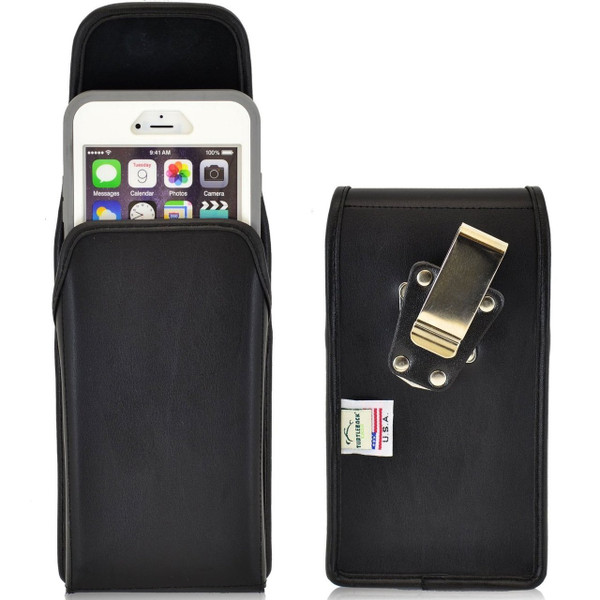 vertical leather extended holster for apple iphone 6 6s plus 5 5