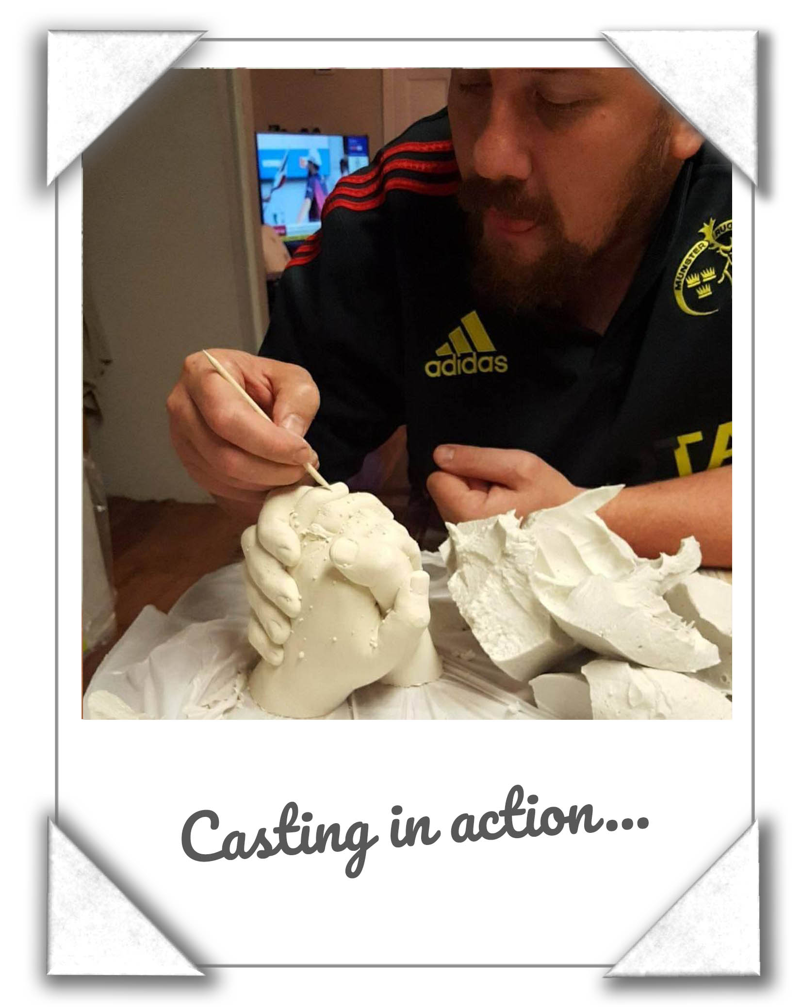 Hand Casting Reveal From Alginate