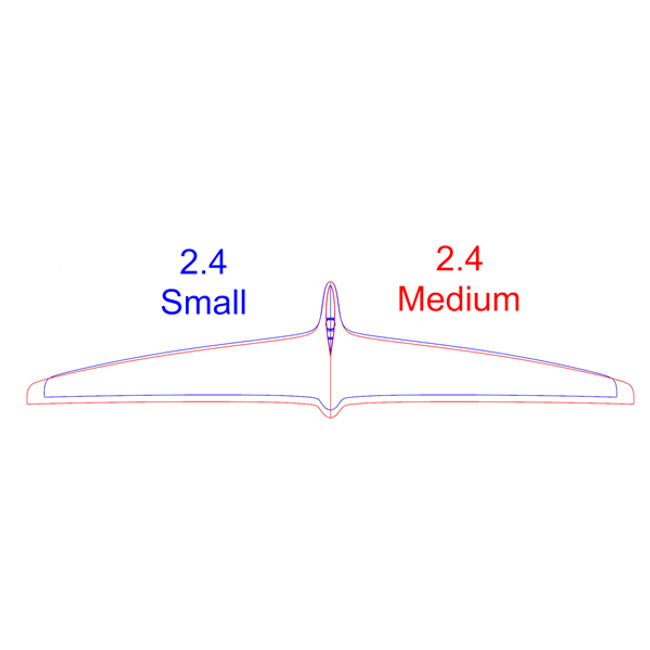 Mach2.4 Rear Hydrofoil Small