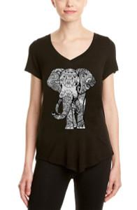 BLACK ELEPHANT S/S V NECK