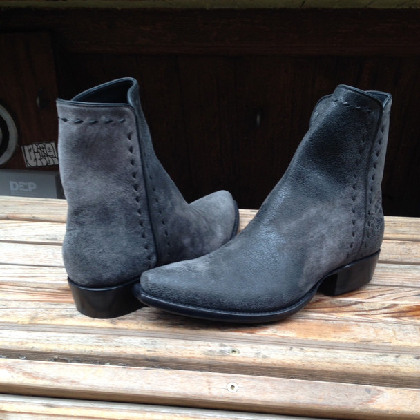 Charcoal Nu Buck Zorro Space Cowboy Boots Nyc