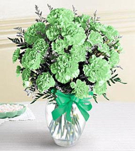 Green Carnation Arrangement - St. Patrick's Day