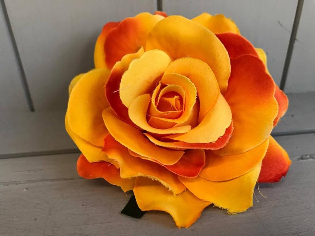 Pin Up Hair Roses - Yellow Sunrise