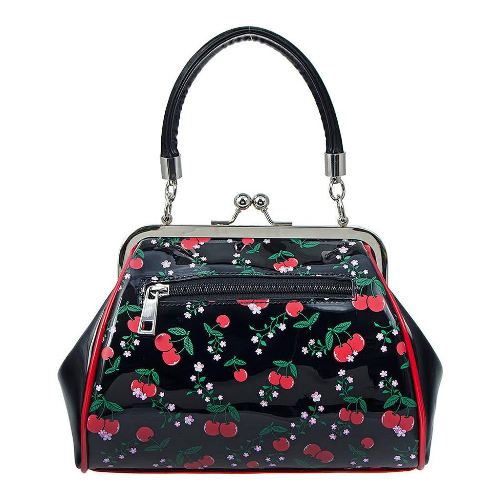 50s Rockabilly Style Cherry Print Handbag