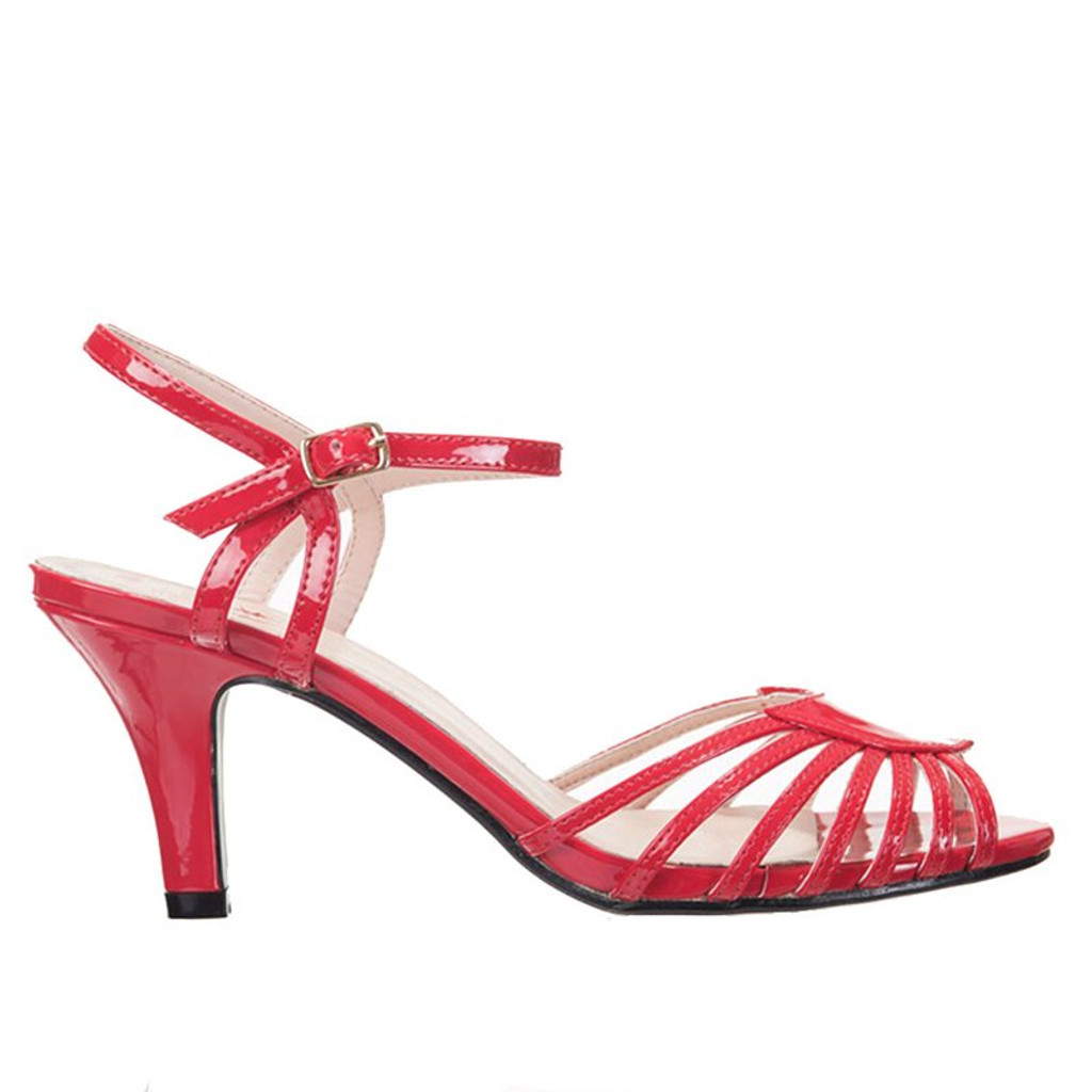 Dancing Days Amelia 1940s Retro Sandals - Red